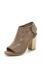 Jeffrey Campbell Quebec Perforated Suede Booties Grey