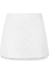 Miu Miu Quilted Shell Mini Skirt White