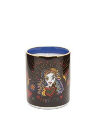 La Doublej Hera Gilded Edge Scented Candle Navy Print