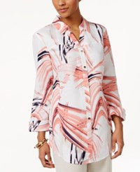 Jm Collection Printed Shirt Only At Macy's Studio Bright Coral