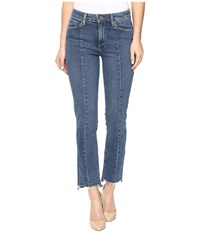 Paige Jacqueline Straight W Seaming Details And Uneven Hem In Felice Felice Women's Jeans Blue