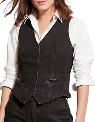 Lauren Ralph Lauren Stretch Denim Vest Delance