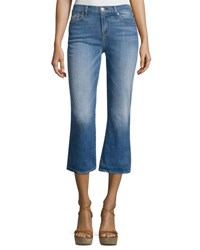 7 For All Mankind Cropped Boot Denim Jeans Indigo