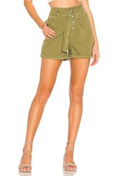 Free People Cindy Utility Short Olive