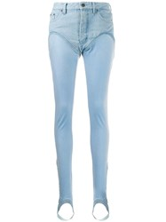Y Project Elastic Feet Detail Jeans Blue