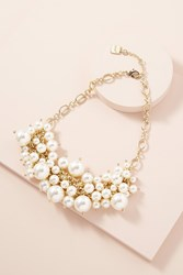 Anthropologie Adella Faux Pearl Embellished Necklace