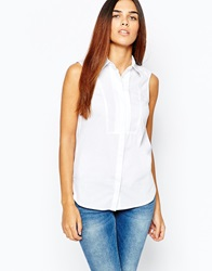Warehouse Sleeveless Shirt White
