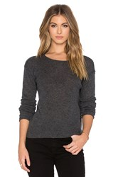 James Perse Cashmere Loose Gauze Sweater Gray