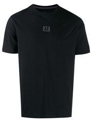 Armani Exchange Logo Patch T Shirt Black