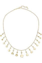 Jacquie Aiche 14 Karat Gold Diamond Necklace One Size