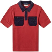 Fred Perry X Nicholas Daley Cord Pocket Polo Red