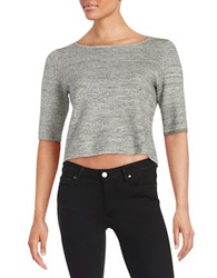 Ivanka Trump Marled Crop Top Grey