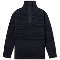 S.N.S. Herning Fisherman Half Zip Knit Blue