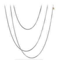 Medium Box Chain With Gold 72'L David Yurman Red