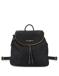 Karl Lagerfeld Quilted Nylon Backpack Black