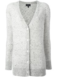 Rag And Bone V Neck Buttoned Cardigan Grey