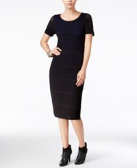 Bar Iii Perforated Bodycon Dress Only At Macy's Deep Black