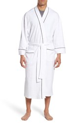 Majestic International Men's Waffle Knit Robe White