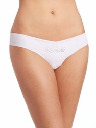 Commando Embellished Bride Thong White
