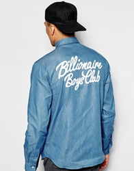 Billionaire Boys Club Chambray Shirt With Back Print Blue