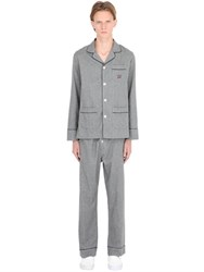 Maison Marcy Cotton Flannel Pajama Shirt And Pants