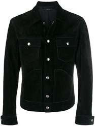Tom Ford Suede Button Front Jacket Black