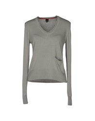 Peuterey Long Sleeve Sweaters Grey