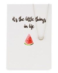 Lydell Nyc Watermelon Necklace With Card