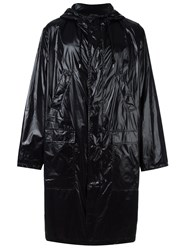 Msgm Logo Print Raincoat Black