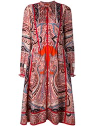 Etro Paisley Shirt Dress Women Silk Cotton 42