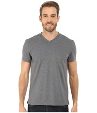 Kenneth Cole Sportswear Short Sleeve V Neck Flannel Heather Men's Short Sleeve Pullover Gray