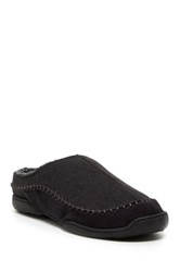 Gold Toe Fleece Lined Slip On Slipper Black
