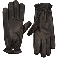 Barneys New York Cashmere Lined Leather Gloves Black