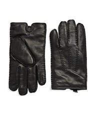 Ralph Lauren Classic Cashmere Lined Leather Gloves Brown