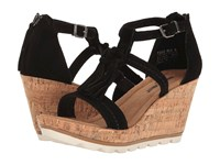 Minnetonka Lincoln Black Suede Women's Wedge Shoes