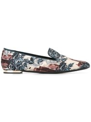 Burberry Landscape Print Slippers Blue