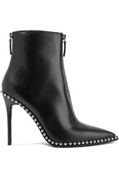 Alexander Wang Eri Studded Leather Ankle Boots Black Usd