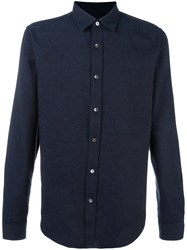 Closed Dot Print Shirt Blue