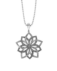 Lagos Sterling Silver Rare Wonders Floral Star Pendant Necklace 34