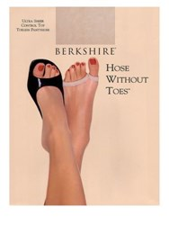 Berkshire Hose Without Toes Ultra Sheer Control Top Hosiery Natural