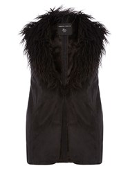 Dorothy Perkins Faux Fur Shearling Gilet Black