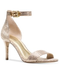 Michael Michael Kors Sienna Two Piece Dress Sandals Women's Shoes Silver Sand Glitter