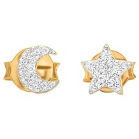 Missoma 18Ct Gold Vermeil Pave Star And Moon Stud Earrings Gold