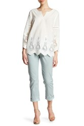 Nydj Riley Relaxed Chino Pant Petite Blue