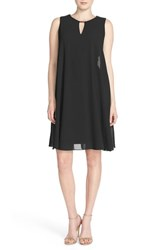 Women's Vince Camuto Keyhole Trapeze Dress Black