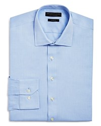 Bloomingdale's The Men's Store At Micro Herringbone Slim Fit Dress Shirt Blue