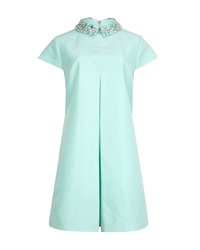 Ted Baker Enid Applique Collar Pleated Tunic Light Green