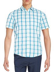 Original Penguin Ombre Plaid Shirt Bright White