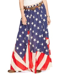 Denim And Supply Ralph Lauren Stars And Stripes Maxi Skirt