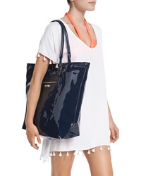 Seafolly Summershine Faux Patent Leather Tote Bag Indigo